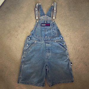 Vintage Tommy Hilfiger Overalls Shorts Large L